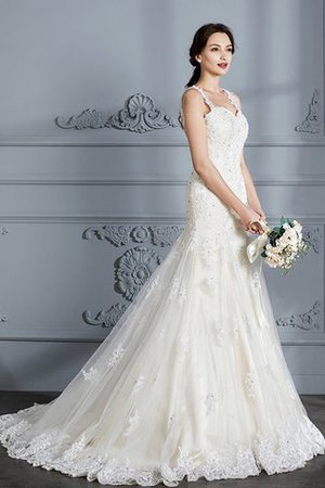 Mermaid Sweetheart Sleeveless Lace Court Train Wedding Dress - 6