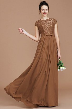 A-Line Jewel Lace Short Sleeves Bridesmaid Dress - 10