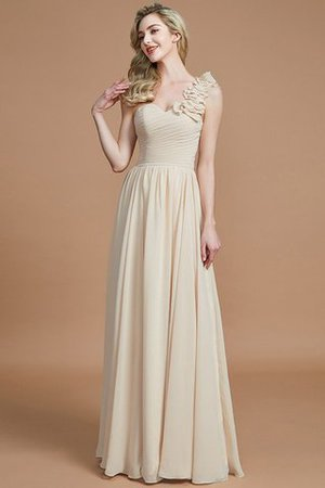 Sleeveless Natural Waist One Shoulder A-Line Chiffon Bridesmaid Dress - 11