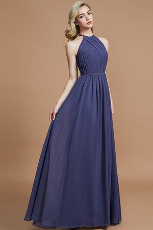 Sleeveless Floor Length A-Line Scoop Bridesmaid Dress - 5