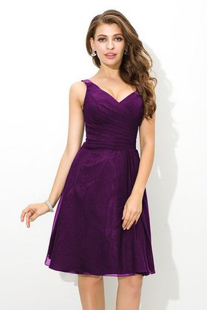 Chiffon Princess Sleeveless Natural Waist Draped Bridesmaid Dress - 13