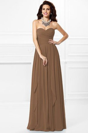 A-Line Zipper Up Long Floor Length Bridesmaid Dress - 4