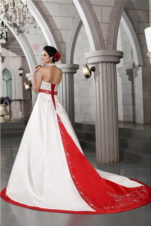 Long Princess V-Neck Sleeveless Empire Waist Wedding Dress - 2
