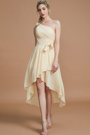 Asymmetrical Chiffon Natural Waist Bridesmaid Dress - 1