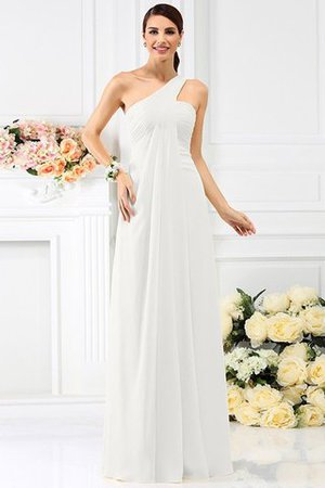 Zipper Up Long Floor Length A-Line Bridesmaid Dress - 16