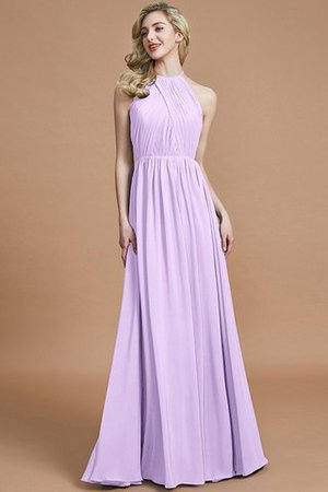 Sleeveless Floor Length A-Line Scoop Bridesmaid Dress - 24