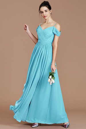 Chiffon Floor Length A-Line Ruched Bridesmaid Dress - 10