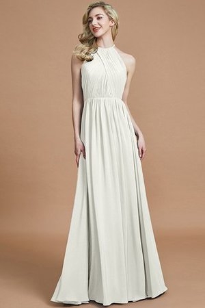 Sleeveless Floor Length A-Line Scoop Bridesmaid Dress - 21