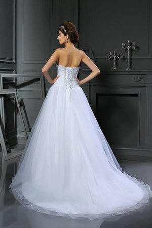 Beading Ball Gown Court Train Lace-up Sweetheart Wedding Dress - 2