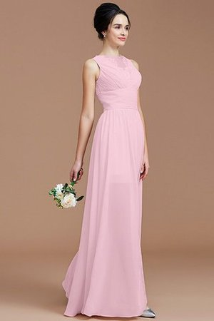 Ruched Zipper Up Natural Waist Jewel Sleeveless Bridesmaid Dress - 28