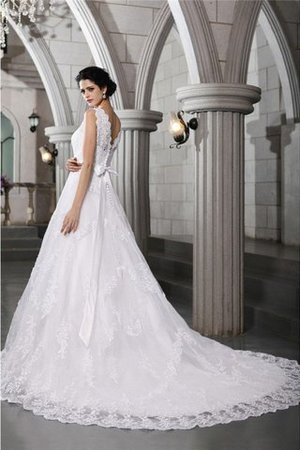 Beading Appliques Organza Zipper Up Sleeveless Wedding Dress - 2