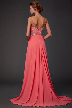 Lace Natural Waist Chiffon Backless Short Prom Dress - 2