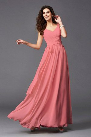 Sashes Floor Length Spaghetti Straps A-Line Bridesmaid Dress - 16
