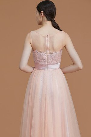 Tulle Zipper Up A-Line Appliques Bridesmaid Dress - 7