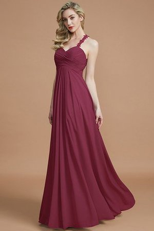 Natural Waist Floor Length Sweetheart Ruched Princess Bridesmaid Dress - 13
