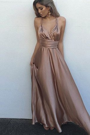 Empire Waist Sashes A-Line Sleeveless Floor Length Evening Dress - 1
