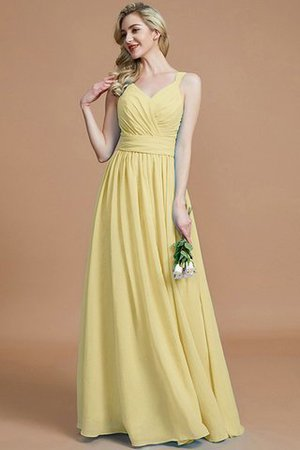 Sleeveless Natural Waist A-Line V-Neck Bridesmaid Dress - 14