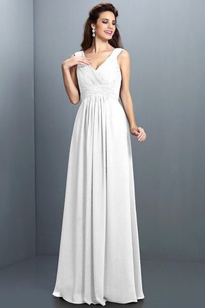 A-Line Chiffon Long Sleeveless Bridesmaid Dress - 29