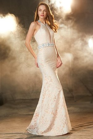 Sheath Floor Length Natural Waist Sleeveless Zipper Up Prom Dress - 4