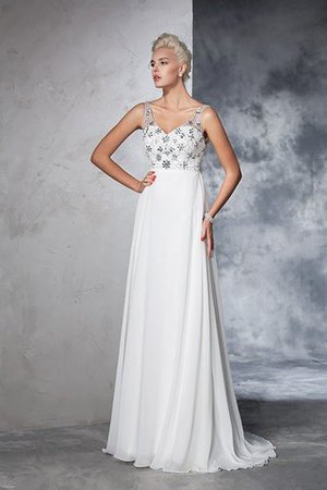 Sleeveless Empire Waist Sweep Train A-Line Long Wedding Dress - 7