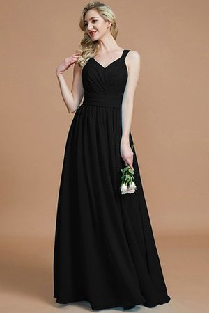 Sleeveless Natural Waist A-Line V-Neck Bridesmaid Dress - 8