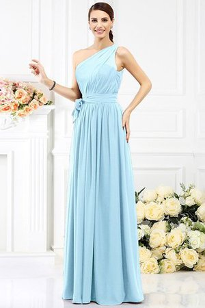 Long Sleeveless A-Line One Shoulder Bridesmaid Dress - 16