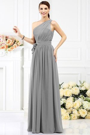 Long Sleeveless A-Line One Shoulder Bridesmaid Dress - 27