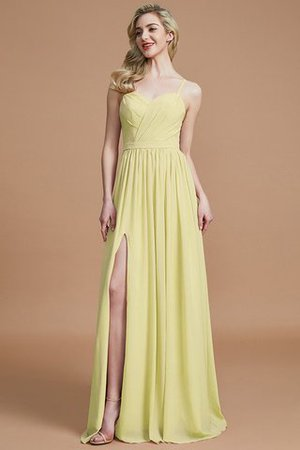 Natural Waist Sleeveless Floor Length Princess Chiffon Bridesmaid Dress - 13