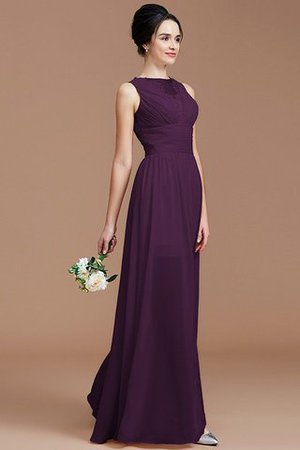 Ruched Zipper Up Natural Waist Jewel Sleeveless Bridesmaid Dress - 18