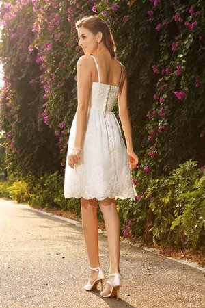 Lace A-Line Spaghetti Straps Appliques Sleeveless Wedding Dress - 2