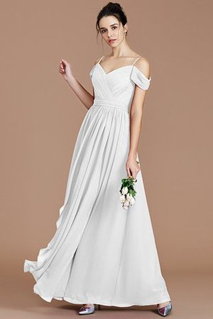 Chiffon Floor Length A-Line Ruched Bridesmaid Dress - 35