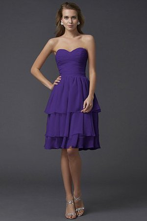 Short Chiffon Sheath Sleeveless Zipper Up Bridesmaid Dress - 24
