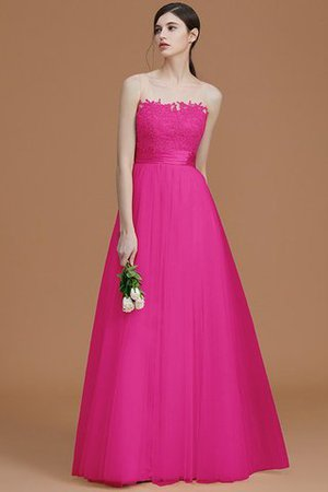 Tulle Zipper Up A-Line Appliques Bridesmaid Dress - 17
