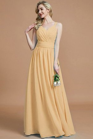 Sleeveless Natural Waist A-Line V-Neck Bridesmaid Dress - 18