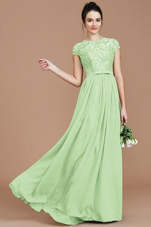 A-Line Jewel Lace Short Sleeves Bridesmaid Dress - 32
