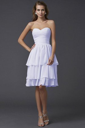 Short Chiffon Sheath Sleeveless Zipper Up Bridesmaid Dress - 29