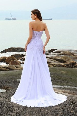 Chapel Train Beach Sweetheart Sheath Sleeveless Wedding Dress - 2