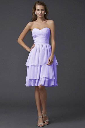Short Chiffon Sheath Sleeveless Zipper Up Bridesmaid Dress - 19