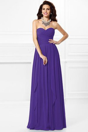 A-Line Zipper Up Long Floor Length Bridesmaid Dress - 23