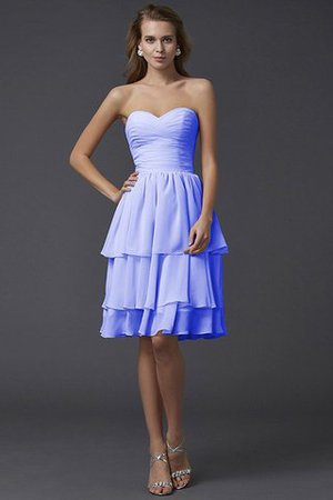Short Chiffon Sheath Sleeveless Zipper Up Bridesmaid Dress - 17
