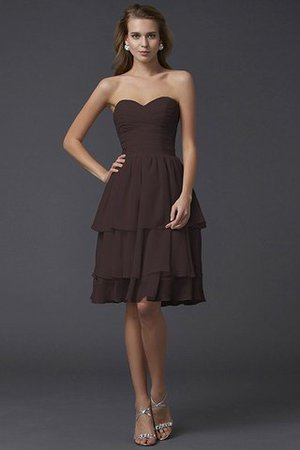 Short Chiffon Sheath Sleeveless Zipper Up Bridesmaid Dress - 8