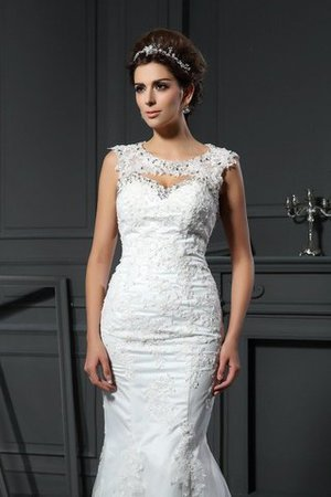 Long Court Train Sweetheart Sleeveless Zipper Up Wedding Dress - 3