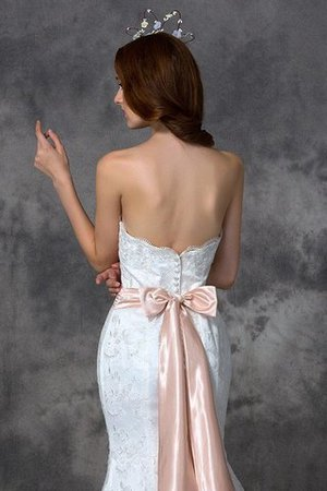 Backless Mermaid Lace Court Train Wedding Dress - 5