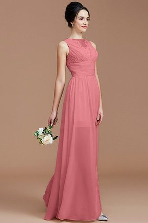 Ruched Zipper Up Natural Waist Jewel Sleeveless Bridesmaid Dress - 34