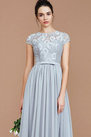 A-Line Jewel Lace Short Sleeves Bridesmaid Dress - 6