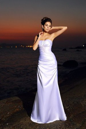 Chapel Train Lace-up Sleeveless Beach Mermaid Wedding Dress - 1