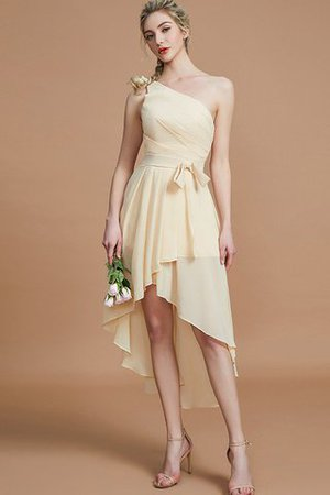 Asymmetrical Chiffon Natural Waist Bridesmaid Dress - 6