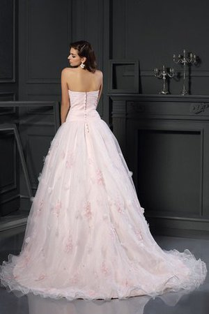Sleeveless Long Satin Ball Gown Sweetheart Wedding Dress - 2