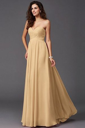 A-Line Sleeveless Chiffon Empire Waist Bridesmaid Dress - 12