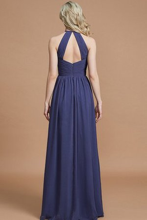 Sleeveless Floor Length A-Line Scoop Bridesmaid Dress - 35